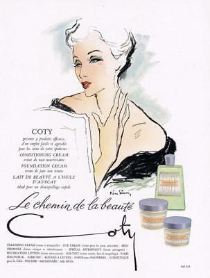 1949 ORIGINAL FRENCH VINTAGE ADVERT / PRINT - Coty Beauty / Cosmetic Ad (777)