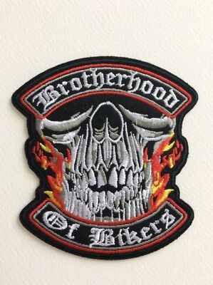 D135 // Ecusson Patch Aufnaher Toppa / Neuf / Brotherhood Of Bikers 9,5*10 Cm
