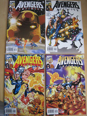 "AVENGERS : ""INFINITY"" : COMPLETE 4 ISSUE 2000 MARVEL SERIES by STERN & CHEN"