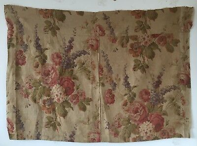 Incredibly Beautiful 19th C. Printed Floral English Linen Fabric  (2323)