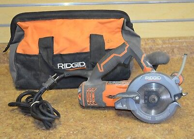 "Ridgid R3250 5"" 2 Blade Corded Electric Circular Saw Free Shipping"