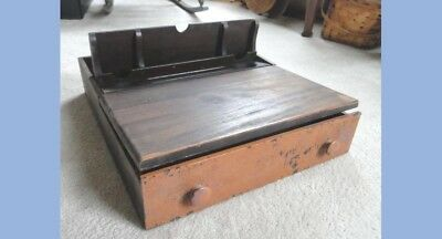 antique AUGLAIZE NEW BREMEN OH POPUP LAPDESK DRAWER school,inkwelll furnniture