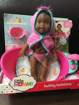 Little Mommy Bubbly Bathtime African-American Doll With Tub