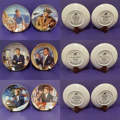 JOHN F. KENNEDY, JFK Franklin Mint Collector's Plate - Set of 6, Limited Edition