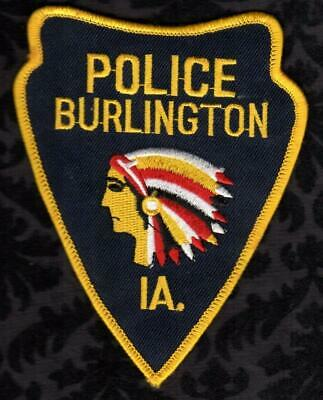 Burlington Iowa Police Shoulder Patch