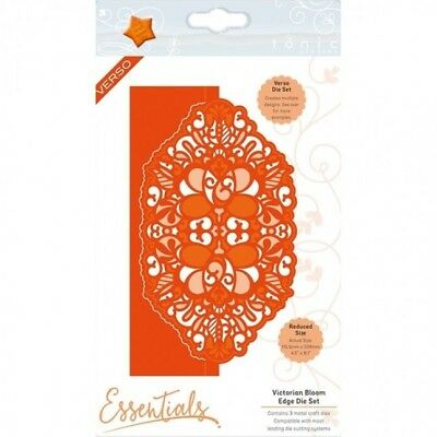 TONIC STUDIOS VERSO VICTORIAN BLOOM DECORATIVE EDGE DIE CUTTING SET - NEW 2051e