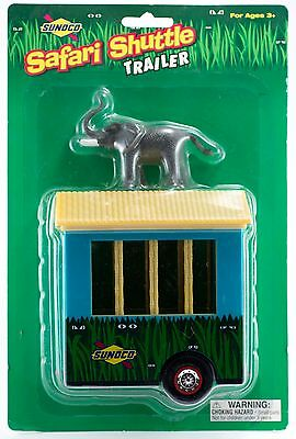 Sunoco Toy Safari Shuttle Trailer With Elephant New In Package 2001