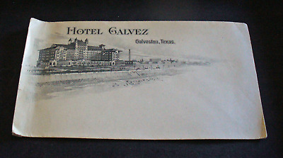 Hotel Galvez Galveston   TX  Illustrated Antique Envelope L30