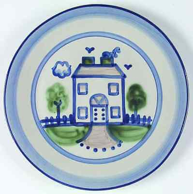 M A Hadley COUNTRY SCENE BLUE House Dinner Plate 5757461