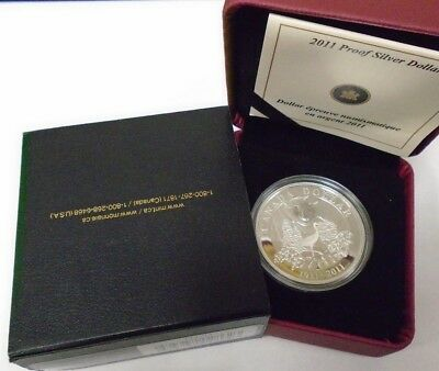 Canada Silver Proof 2011 $1 100 Years Parks Commemorative in box w/COA