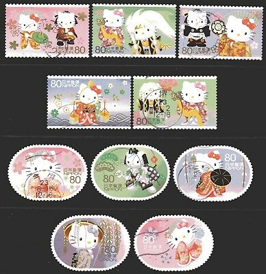 Japan 2011 80y Hello Kitty set of 10 Fine Used