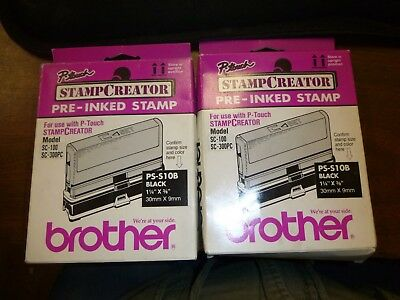 LOT OF 2 Brother PS-S30B Black Size-30 Stamp Creator Made in Japan