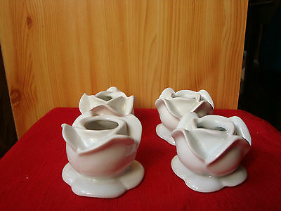Lot 4 Bougeoirs Porcelaine Limoges