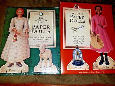 Bundle - SEALED American Girl Paper Dolls - Felicity and Addy ~ New Uncut