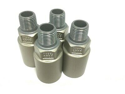 "Lot of 4 New SMC 2505-N003 Silencer 2500M, Fitting: 3/8"" NPT, Zinc Die Cast"