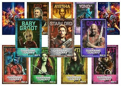 Guardians of the Galaxy 2 Movie Star Lord Drax Mantis Yondu posters A5 A4 A3