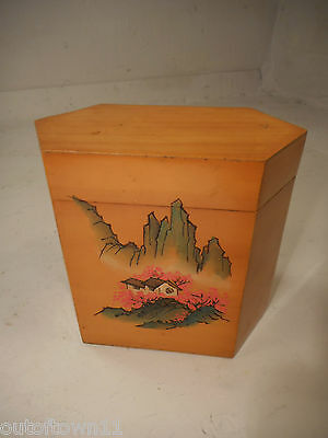 Vintage Chinese Tea Caddy Box      ref 1224