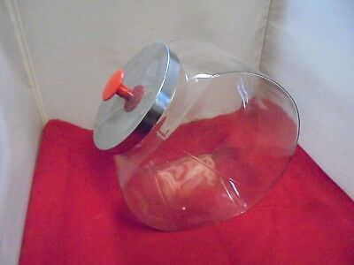 Vintage Large Glass Apothecary Jar Medical Bubble Sided Candy Display Jar