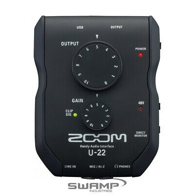 ZOOM U-22 USB Handy Mobile Recording and Performing Audio Interface