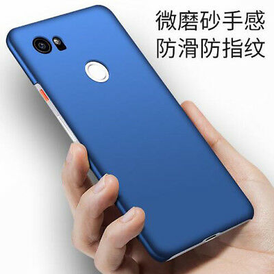 For Google Pixel 2 /XL Ultra Slim Protection PC Hard Back Skin Touch Case Cover