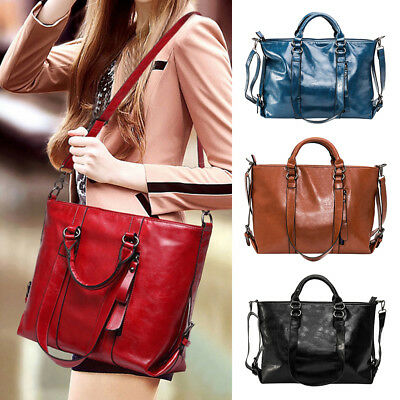 Women's Leather Handbags Tote Purse Bags Messenger Shoulder Bags Gifts Wniu