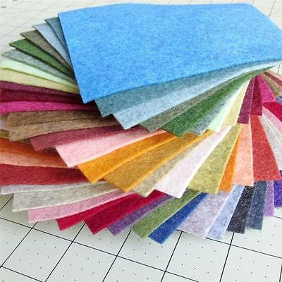 40 Colors 15/30cm Felt Sheets DIY Craft Supplies Polyester Wool Blend Fabric GH