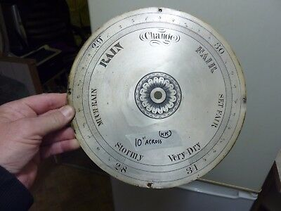 "GOOD 19th CENTURY 10"" WHEEL BAROMETER ENGRAVED DIAL"