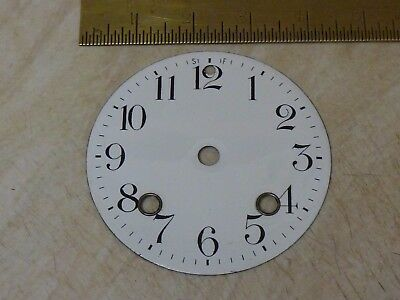Old French-German Clock  Enamel Dial (Ed2)