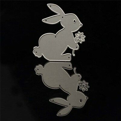 Bunny With Flower Cutting Dies Stencil Scrapbooking Album Paper Embossing Crafts