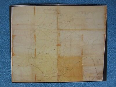 Civil War Map - General James McPherson's Field Map of Area North of Atlanta