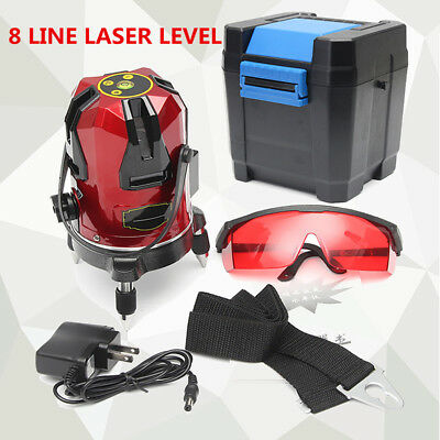 3D 8 Lines  Automatic Self Leveling  Rotary Laser Level Measure Red Professional