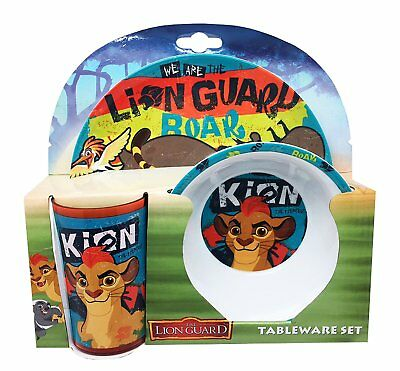 Disney The Lion Guard 3 piece melamine tableware set