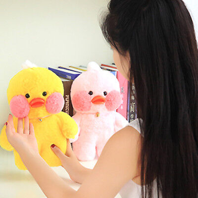 Stuffed Toy Lalafanfan Cafa Mini Duck Pink/Yellow Cute Duck  Soft Plush Doll