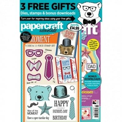 Papercraft Essentials Magazine Issue 159 + Man Of The Moment Die And Stamp Set