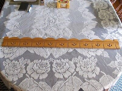 """Antique 36""""W Victorian Oak Spoon Carved Bed Bookcase Crest Architectural c1880s"""