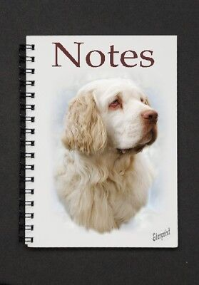 Clumber Spaniel Dog Notebook/Notepad with small image on every page By Starprint