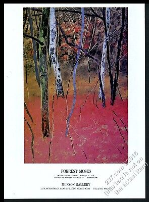 1987 Forrest Moses October Vermont art Munson gallery show vintage print ad