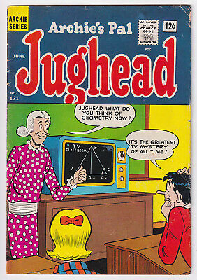 JUGHEAD 121 (1965 Archie) Geometry cover; VG/FN 5.0