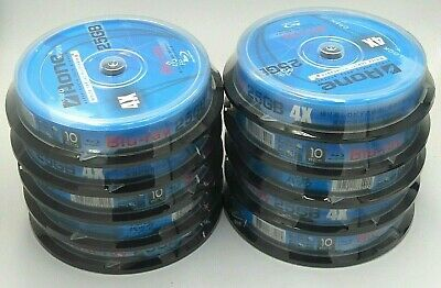 5 x Aone Blu Ray Blank 4X Discs Full Face White Inkjet Printable 25GB BD-R New