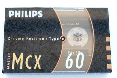 Philips Mcx 60 Master Chrome High Bias Type Ii Blank Audio Cassette - 1990
