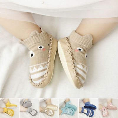 Infant Baby Girls Boys Soft ocks Shoes Prewalker Anti-slip Boots Slippers Cotton