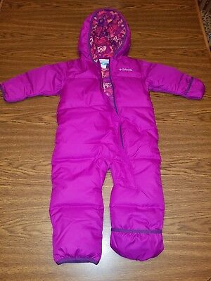 b53771fd4 COLUMBIA DOWN FILLED Snowsuit Bunting Girls 18-24 Months -  35.00 ...