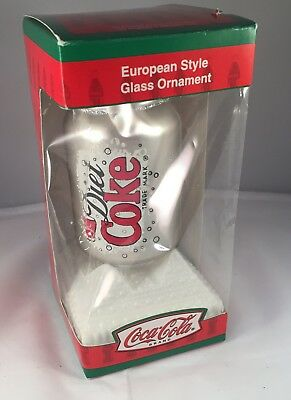 DIET COKE COCA COLA European GLASS ORNAMENT HAND PAINTED KURT ADLER