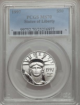 1997 PLATINUM EAGLE PCGS MS70 $50 *POP only 16 Coins * STATUE OF LIBERTY