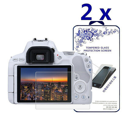 2-Pack For Canon Eos 200D / KISS 9 / SL2 Tempered Glass Screen Protector
