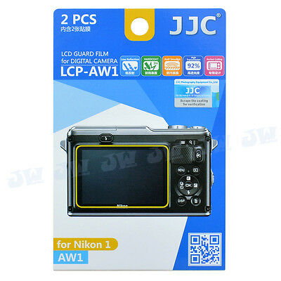 JJC 2pcs LCD Guard Camera Monitor Display Screen Protector Film For Nikon AW1