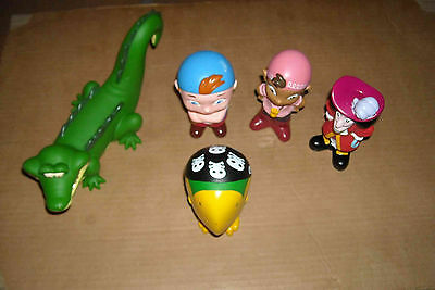 5 Figurines Jake Et Les Pirates Au Pays Imaginaire(Peter Pan)Pour Le Bain Disney