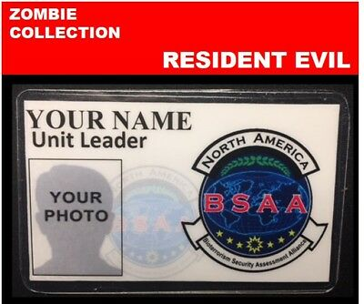 zombie ID collection..RESIDENT EVIL.. Wallet Card  << BSAA>>