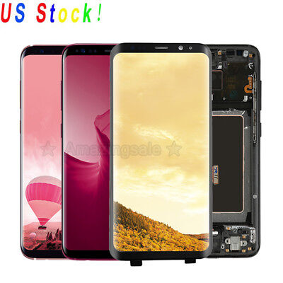 OEM LCD Touch Screen Digitizer + Frame Assembly for Samsung Galaxy S8 | S9 Plus