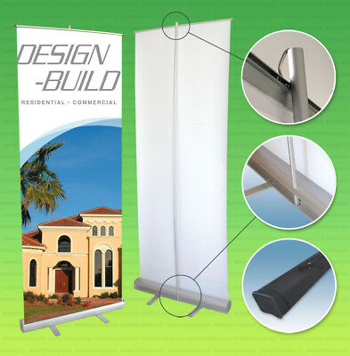 36x79 Retractable Banner Stand Roll Pop Up Trade Show Sign Display Free Printing
